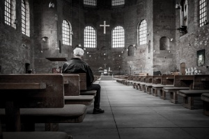 man in church